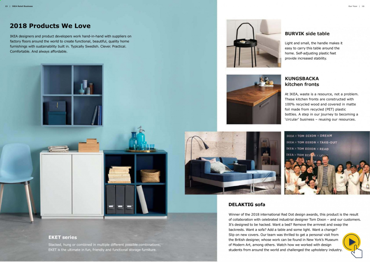 IKEA offer  - Sales products - always, bed, Furniture, sofa, table, watch, Kitchen. Page 9.
