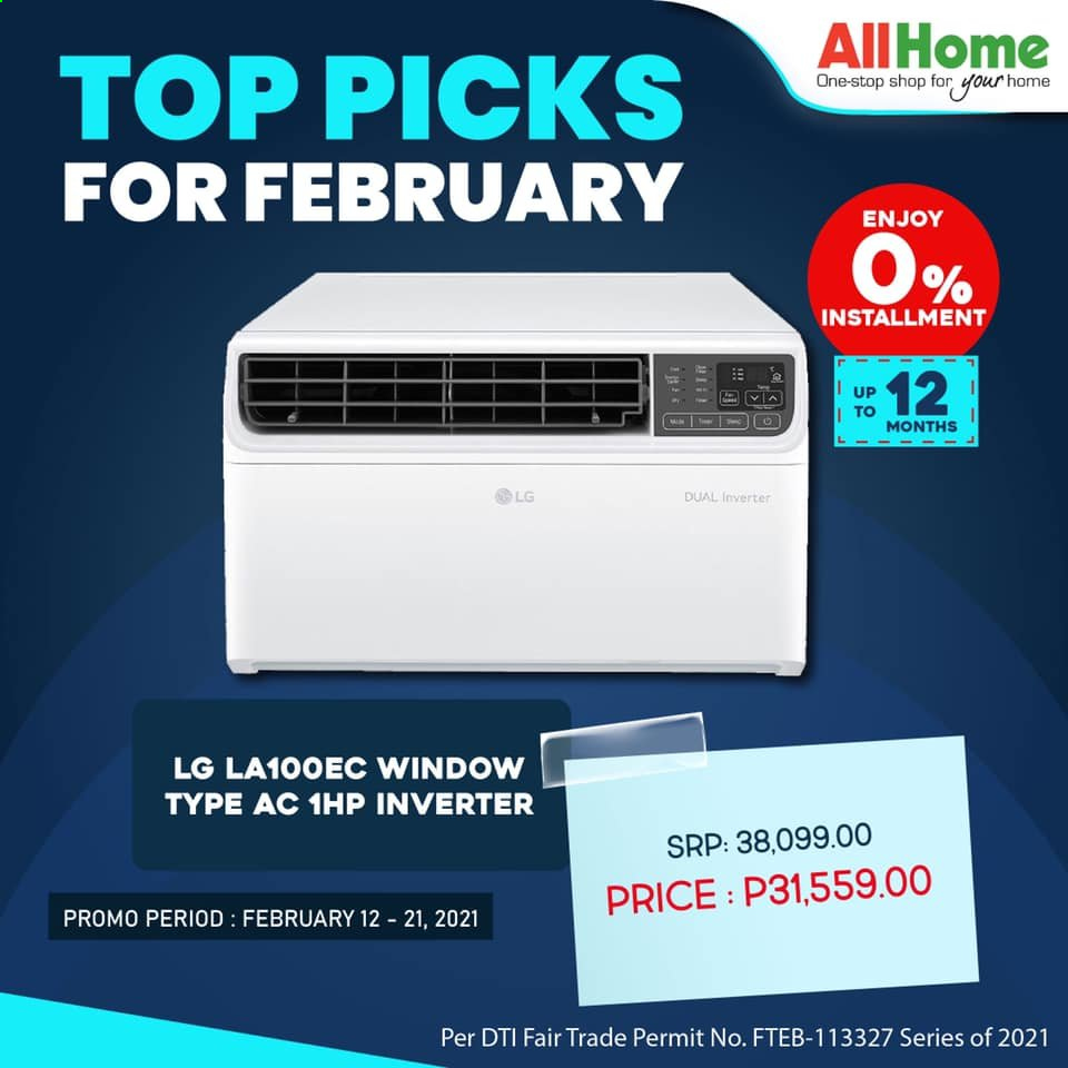AllHome offer  - 12.2.2021 - 21.2.2021 - Sales products - LG. Page 1.